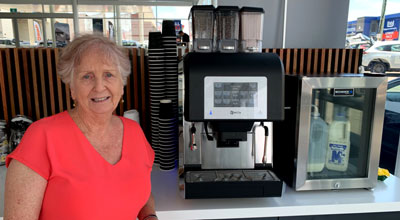 Happy Customer Isabel from Geralton Hospital Happy with the Purchase of a New Karisma Coffee Machine
